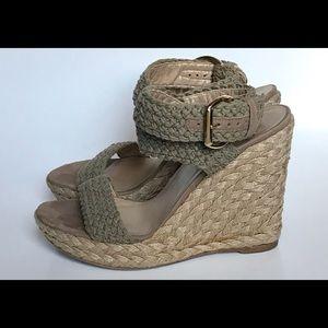 fd593b48482 Stuart Weitzman Alex Crochet Sandal Wedge size 10